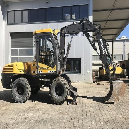 Used Mecalac 12 MTX Mobile Excavator for Sale