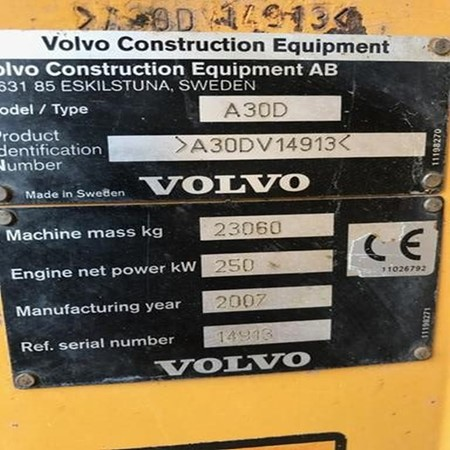 Used Volvo A30D Truck for Sale