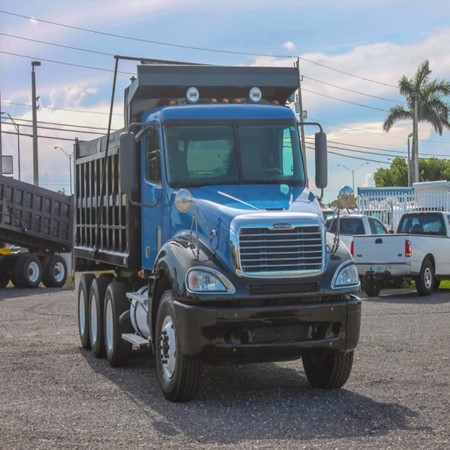 Used FREIGHTLINER COLUMBIA Tri-Axle Steel Dump Truck for sale
