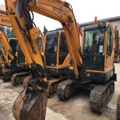 Used HYUNDAI-R55 Compact Mini Excavator for sale