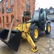 Used Telehandler - Komatsu WH613 with Forks and New Bucket for Sale