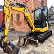 Used Excavator JCB 8050ZTS with hydraulic hitch & 3 buckets for Sale