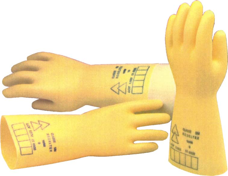 Natural latex insulating gloves